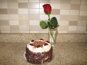 My Birthday cake and Rose from Jose'